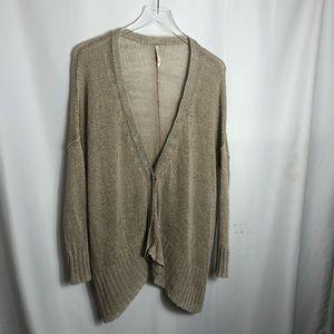 Free People Oversized linen Cardigan Sweater 0630